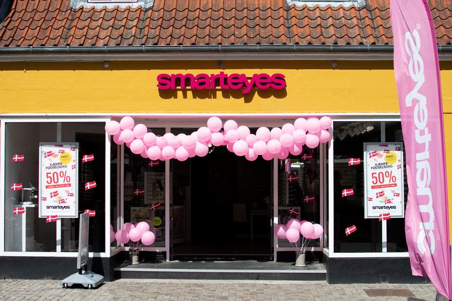 Butikken Smarteyes i Djalma Lunds Gaard